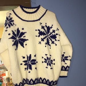 24ToDAy VTG snowflake WOOL sweater chunky oversize